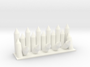 Castle Panic Fortified Wall in White Processed Versatile Plastic