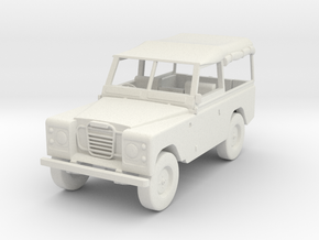 1:72 Scale Landrover in White Natural Versatile Plastic