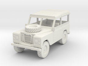 1/72 1:72 Scale Land Rover Soft Top in White Natural Versatile Plastic