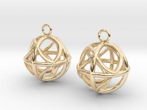 Ball earrings in 14K Yellow Gold