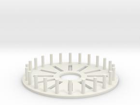 Starship Winder in White Natural Versatile Plastic