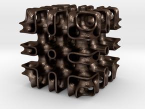 Minimal-Surface Array in Matte Bronze Steel