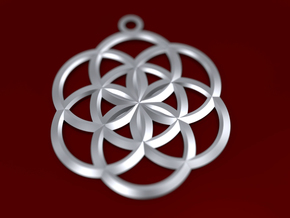 Seed of Life Pendant in Polished Brass