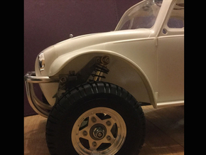 Sand Scorcher Wheel Arches / Inner Fenders, Full S in White Strong & Flexible Polished
