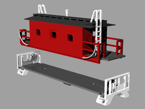 N Scale Monon Transfer Caboose in Smooth Fine Detail Plastic
