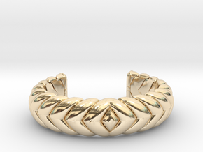 V CUFF 2016 EXTRA EXTRA SMALL in 14k Gold Plated Brass