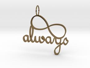 Always Infinity in Polished Bronze