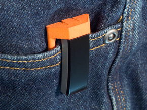 Pocket Clip for Fitbit Alta in Orange Strong & Flexible Polished