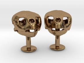 Loggerhead Cufflinks With Mandible in Natural Brass