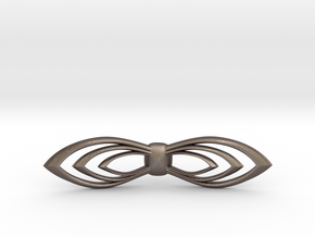 Bow tie/ ties in Polished Bronzed Silver Steel