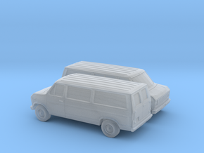 1/160 2X 1975-91 Ford E-Series Van in Smooth Fine Detail Plastic