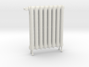 1:24 Decorative Radiator in White Natural Versatile Plastic