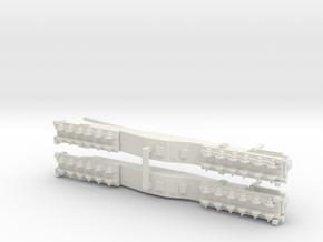 1/700 Scale Anzio Annie K5 Railway Gun in White Natural Versatile Plastic