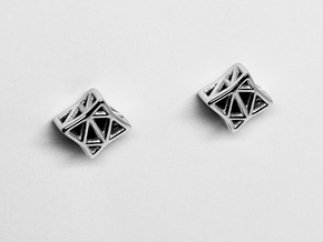 Starlit Studs in Rhodium Plated Brass