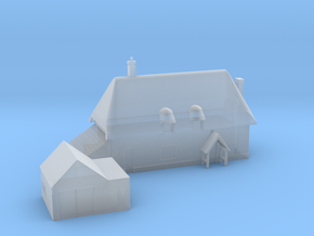 1:700 Scale Parham Village House in Smoothest Fine Detail Plastic