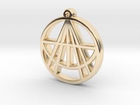 Astralizey Logo Pendant/Keychain in 14K Yellow Gold