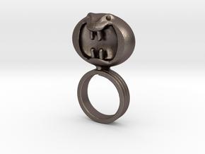 Dark Helmet's ring from Spaceballs Schwartz in Polished Bronzed Silver Steel