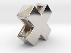Swiss X mini 10mm in Rhodium Plated Brass