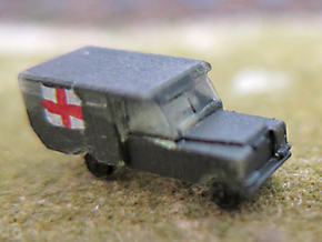 1/285 Land Rover S2a Ambulance,for 6mm wargaming in Smooth Fine Detail Plastic