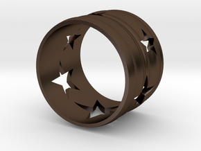 Star Ring in Polished Bronze Steel