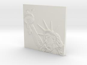Statue of Liberty in White Natural Versatile Plastic