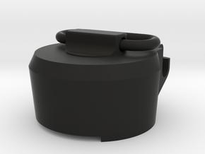 E11 rear cap in Black Natural Versatile Plastic