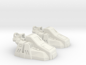 Calculating Giant's Slippers in White Natural Versatile Plastic