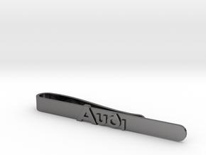 Luxury Audi Tie Clip - Minimalist in Polished Nickel Steel