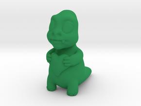 Cute monster in Green Processed Versatile Plastic