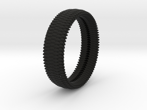 SCALES BANGLE WIDE 3in ID in Black Natural Versatile Plastic