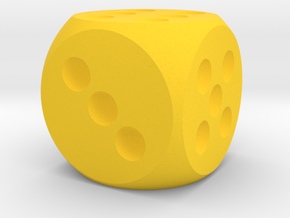 D-6 25mm in Yellow Processed Versatile Plastic