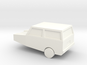 Robin Reliant - Quick and Easy - N Scale in White Processed Versatile Plastic