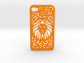 Lion Floral Iphone Case 4/4s in Orange Processed Versatile Plastic