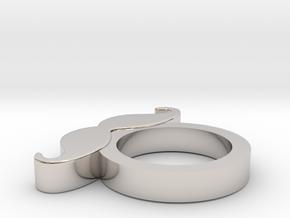 ARISUMOCHI MOUSTACHE RING in Platinum