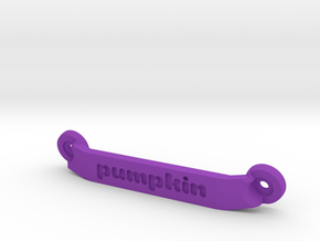 CW01 Chassis Brace - Rear - Pumpkin in Purple Processed Versatile Plastic