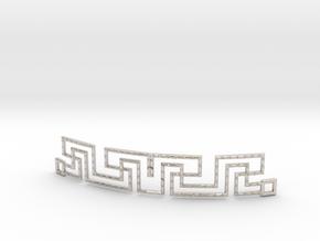 Urban Style Bracelet in Rhodium Plated Brass