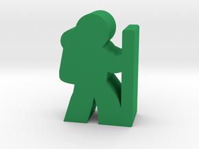 Game Piece, Hiker in Green Processed Versatile Plastic