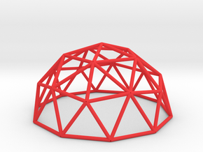 Geo Dome in Red Processed Versatile Plastic