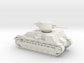 Vickers Medium Mk.C (1:100 scale) in White Natural Versatile Plastic