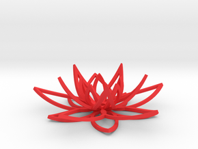 Lotus flower in Red Processed Versatile Plastic