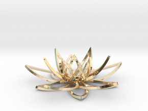 Lotus flower in 14k Gold Plated Brass