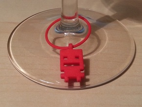 Turbo Buddy Wine Charm in Red Processed Versatile Plastic