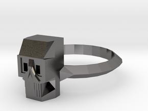 Skull v01 M in Polished Nickel Steel