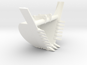 40 Ton HDTrap Bucket in White Processed Versatile Plastic