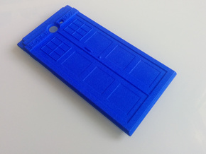 The Other Side Police Box for Jolla Phone in Blue Processed Versatile Plastic