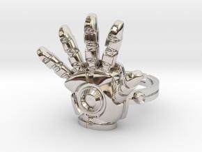 Iron Man Ring - 17.35mm - US Size 7 in Platinum