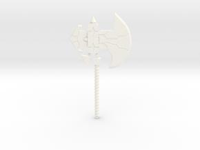 Galvatron's Axe in White Processed Versatile Plastic