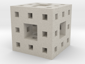 Little Level 2 Menger Sponge in Natural Sandstone