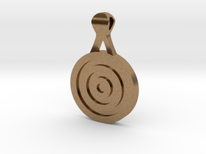 Target Pendant in Natural Brass