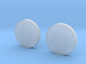 White Lantern Cuff Links in Smooth Fine Detail Plastic